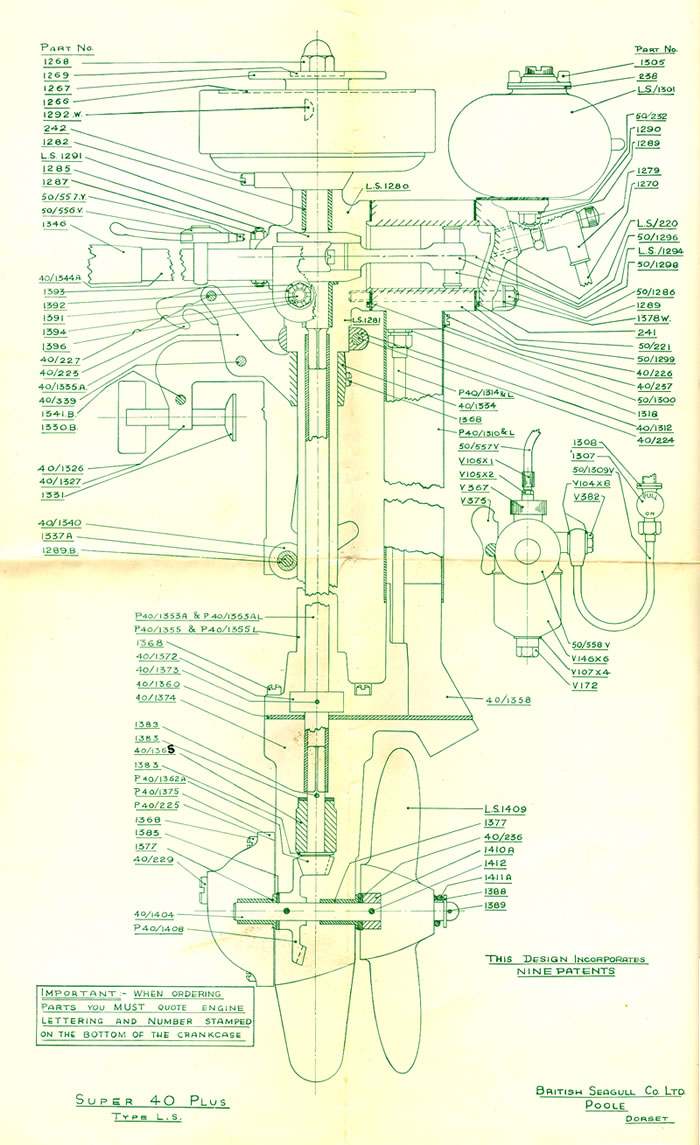 british seagull outboard motors super 40 plus type ls modified outboard racing (click image to see enlarge view)